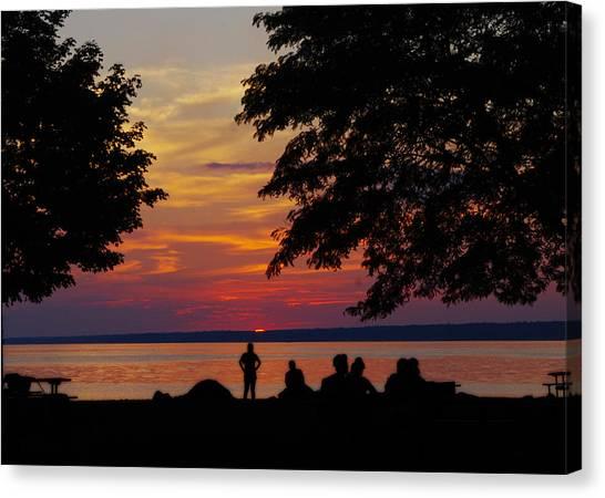 Sunset At Sylvan Beach Canvas Print