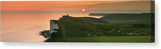 Sunset At The Belle Tout Lighthouse Canvas Print