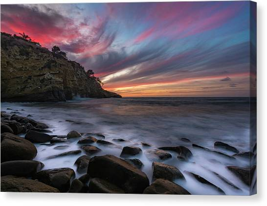 Sunset At The Cove Canvas Print