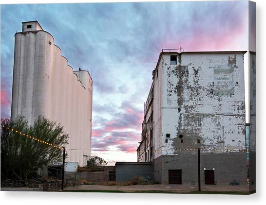 Arizona State University Asu Tempe Canvas Print - Sunset At The Historic Hayden Mill In Downtown Tempe by Dave Dilli