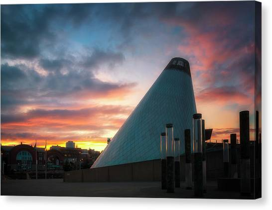 Sunset At The Museum Of Glass Canvas Print