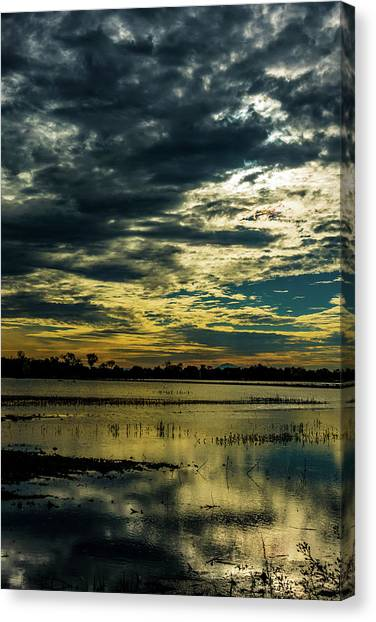Sunset At The Wetlands Canvas Print