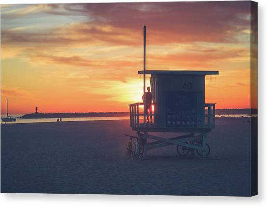 Sunset At Toes Beach Canvas Print