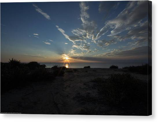Canvas Print featuring the photograph Sunset At Torrey Pines by Jeremy McKay