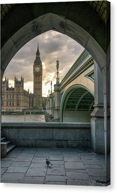 Sunset At Westminster Canvas Print