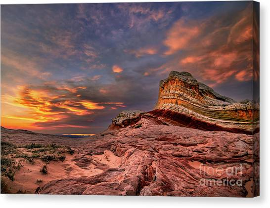Sunset At White Pocket Canvas Print