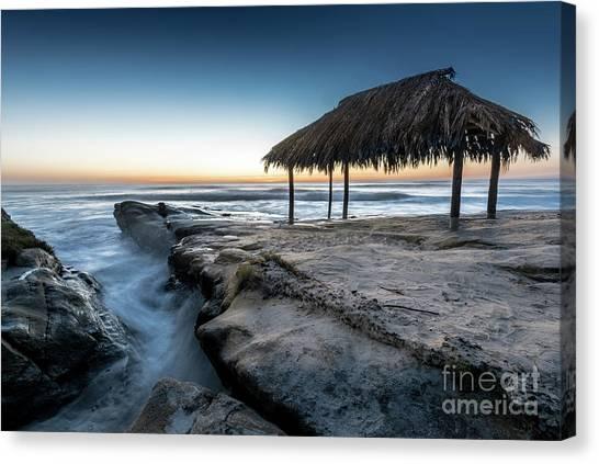 Sunset At Windansea Beach Shack Canvas Print