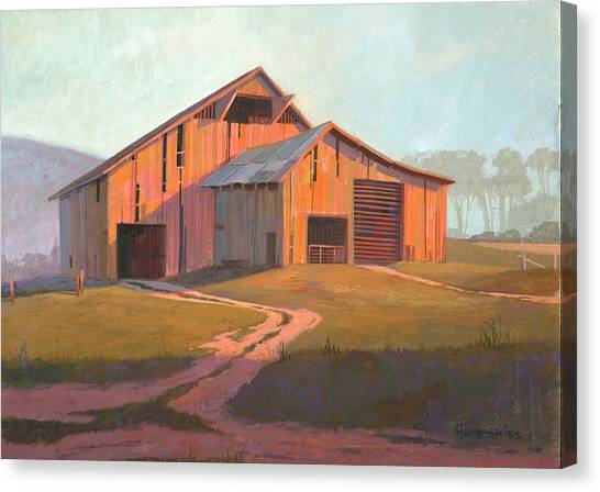 Barn Canvas Print - Sunset Barn by Michael Humphries