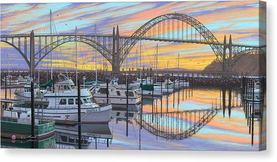 Crabbing Canvas Print - Sunset Bay by Andrew Palmer