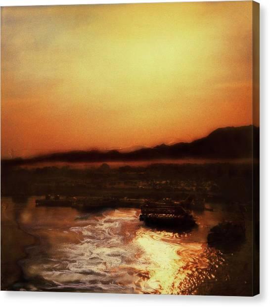 Sunset Bay  Canvas Print by Paul Tokarski