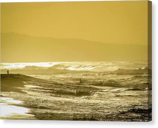 Sunset Beach Aglow  Canvas Print