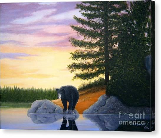 Sunset Bear Canvas Print
