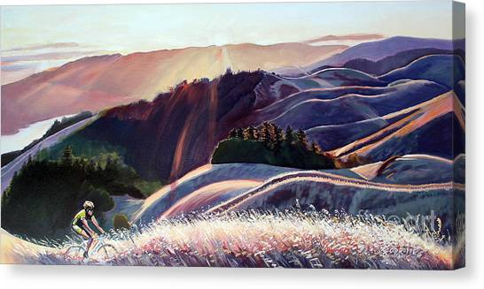 Marin Canvas Print - Sunset Bike Ride by Colleen Proppe