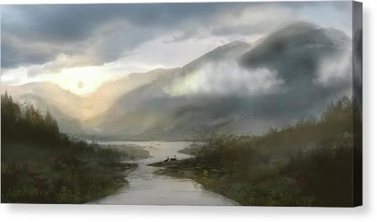 Canvas Print - Sunrise by Bitten Kari