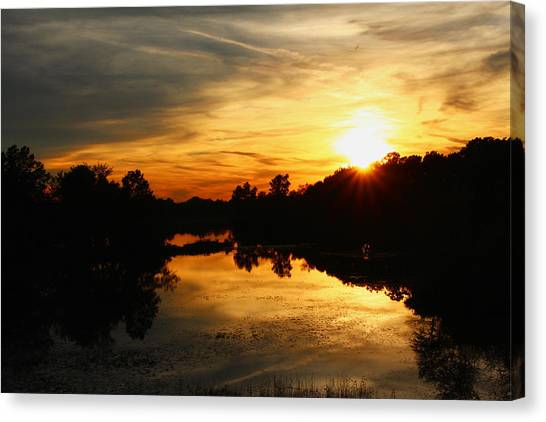 Michigan State University Canvas Print - Sunset Bliss by Robert Carey