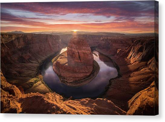 Canvas Print featuring the photograph Sunset Blossom // Horseshoe Bend // Arizona   by Nicholas Parker