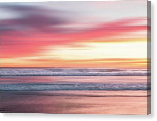 Canvas Print featuring the photograph Sunset Blur - Pink by Patti Deters