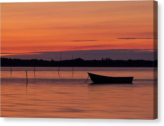Canaries Canvas Print - Sunset Boat by Gert Lavsen