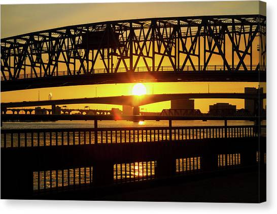 Sunset Bridge 3 Canvas Print