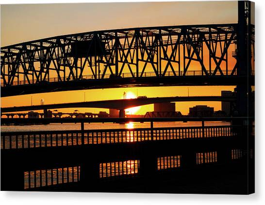 Sunset Bridge 4 Canvas Print