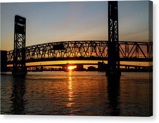 Sunset Bridge 5 Canvas Print