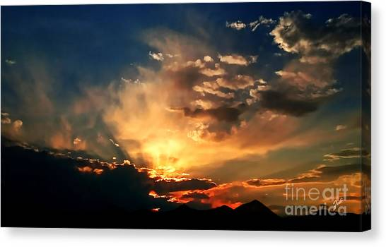 Sunset Of The End Of June Canvas Print