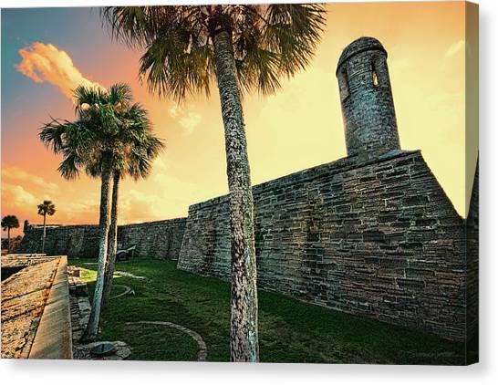 Sunset Castillo De San Marcos Canvas Print