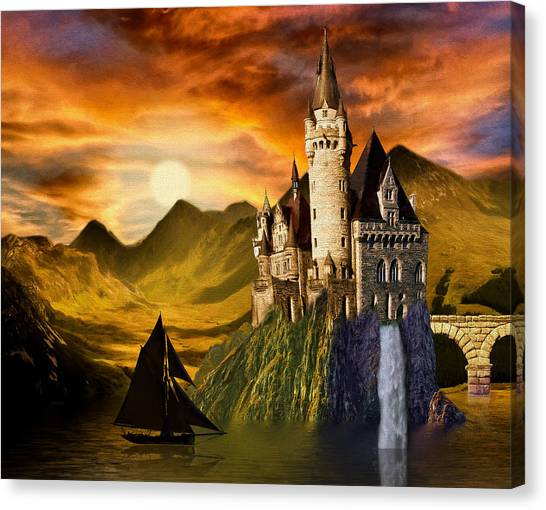 Sunset Castle Canvas Print