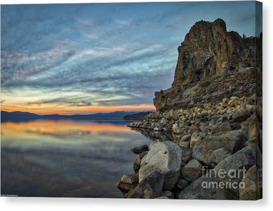 Sunset Cave Rock 2015 Canvas Print