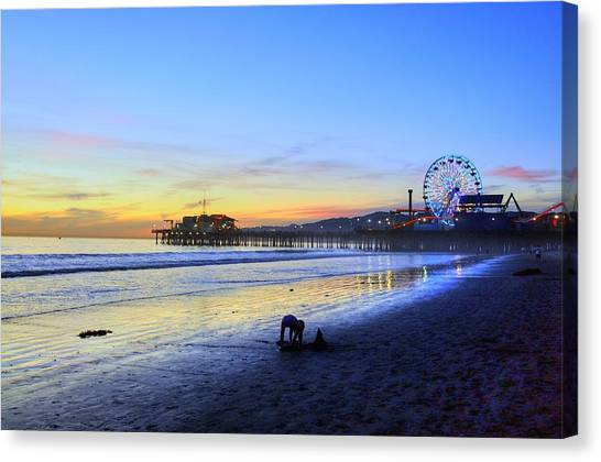 Sunset Child Canvas Print