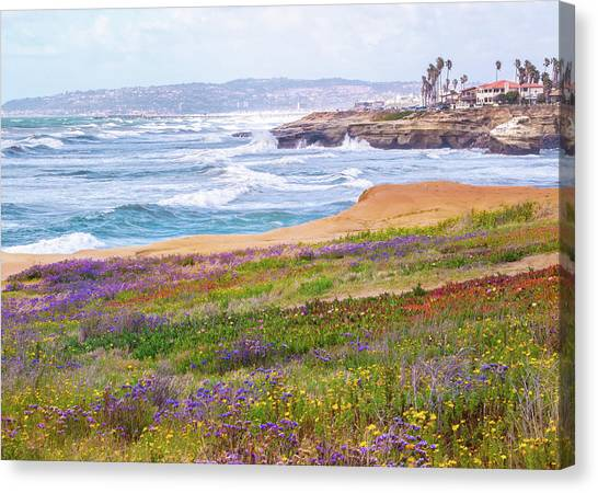 Sunset Cliffs In Spring Canvas Print