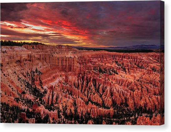 Sunset Clouds Over Bryce Canyon Canvas Print