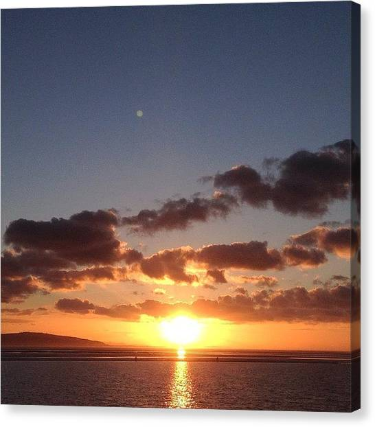Kirby Canvas Print - #sunset #cloudset #nofilter #westkirby by Helen Smith