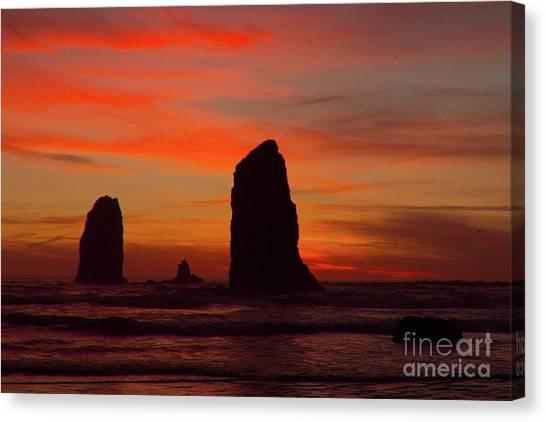 Sunset Coast Canvas Print