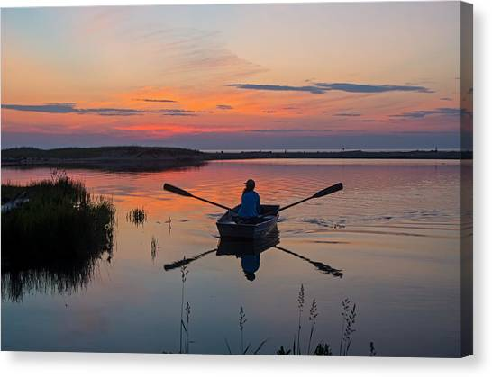 Sunset  Crossing Canvas Print