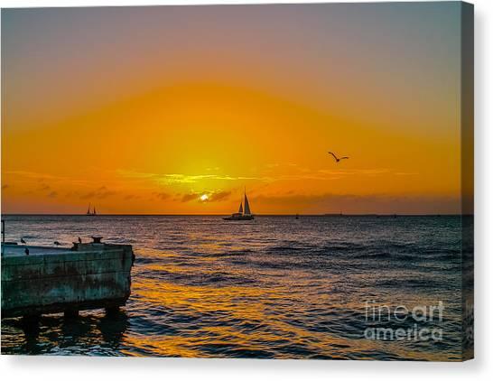Sunset Cruise - Key West 2 Canvas Print