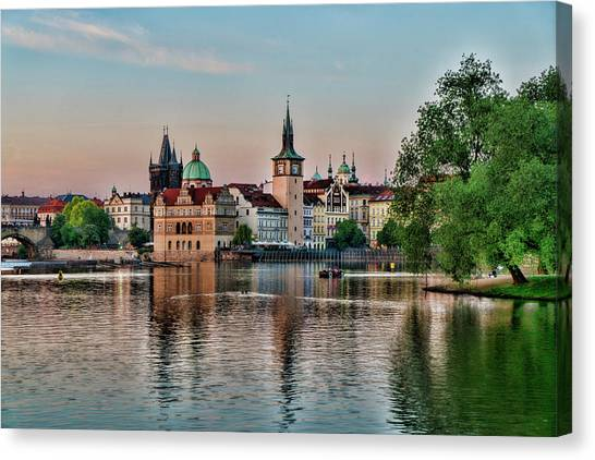 Sunset Cruise Prague Canvas Print