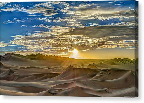 Peruvian Canvas Print - Sunset by Dado Molina