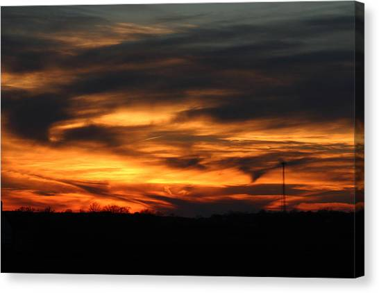 Sunset Canvas Print by Dave Clark