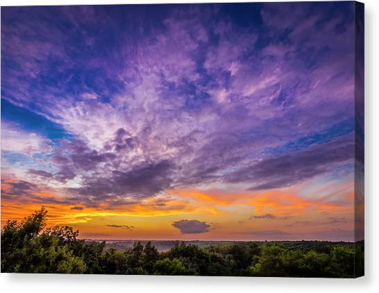 Southern Illinois University Canvas Print - Sunset Delight by Todd Reese