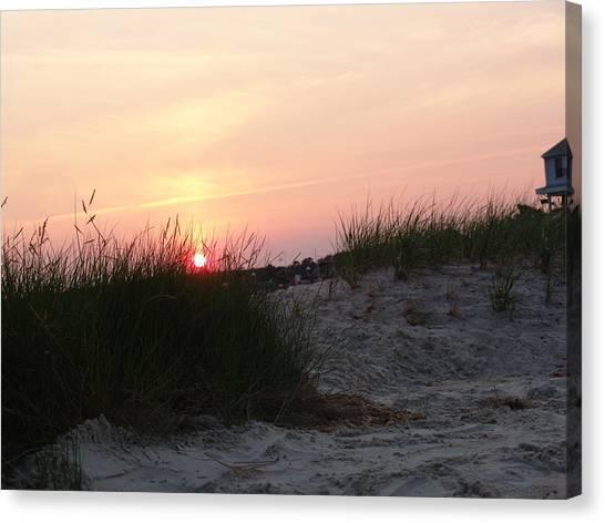 Sunset Dewey Beach Canvas Print by Kevin Callahan