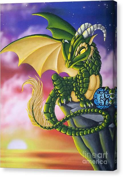 Sunset Dragon Canvas Print