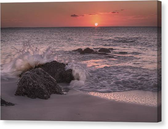 Ocean Sunsets Canvas Print - Sunset Escape by Betsy Knapp
