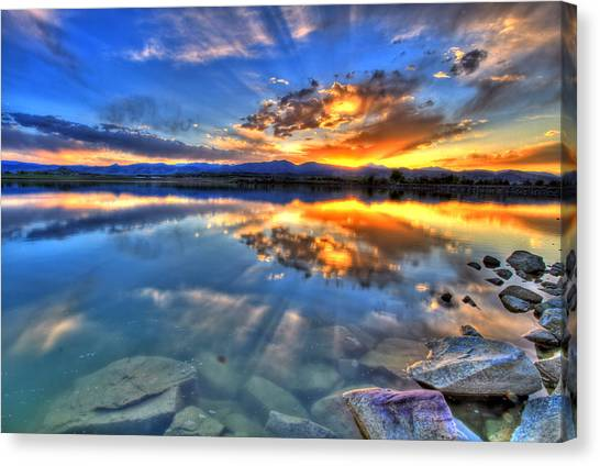 Sunset Explosion Canvas Print
