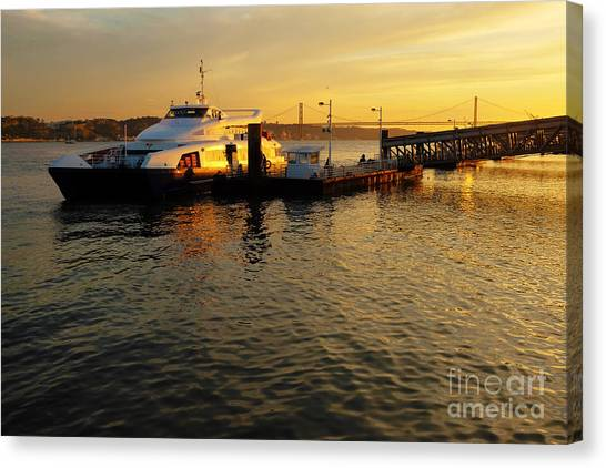 Catamarans Canvas Print - Sunset Ferryboat by Carlos Caetano