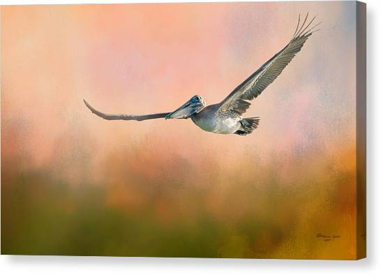 Florida Wildlife Canvas Print - Sunset Flight by Marvin Spates