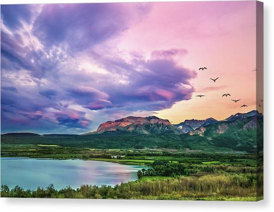 Sunset Flight Canvas Print