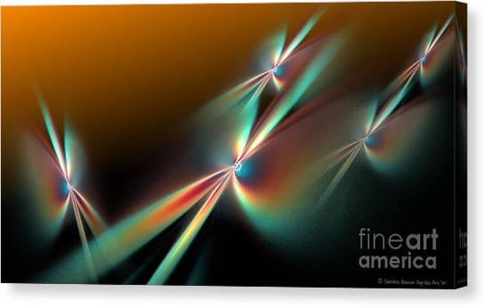 Sunset Flyers Canvas Print by Sandra Bauser Digital Art