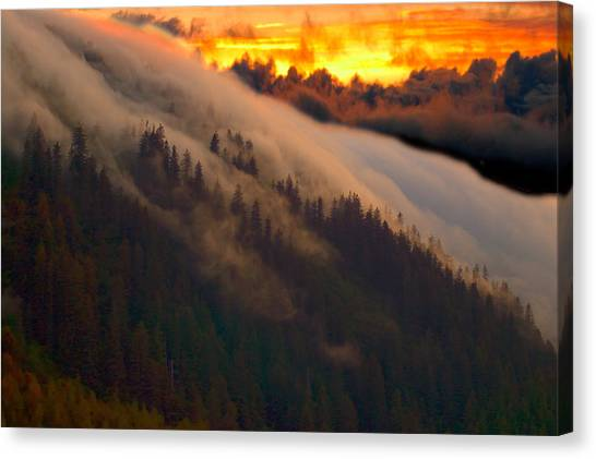 Sunset Fog Canvas Print