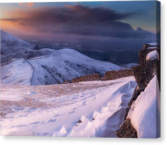 Sunset Following The Mourne Wall Canvas Print